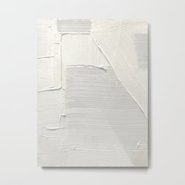 Relief [2]: an abstract, textured piece in white by Alyssa Hamilton Art Metal Print