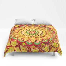 Mandala on copper plate 3 Comforters