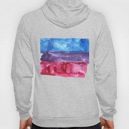 bisexual watercolor flag Hoody