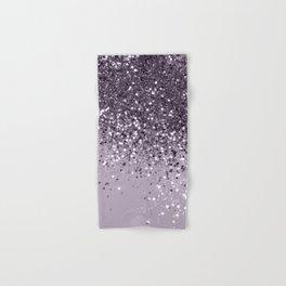 Sparkling Lavender Lady Glitter #2 #shiny #decor #art #society6 Hand & Bath Towel