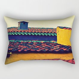 Red Tile Roof Rectangular Pillow