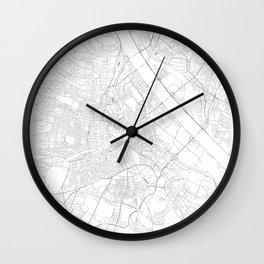 Vienna, Austria Minimalist Map Wall Clock