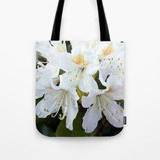 Beautiful white azalea flower photography. Tote Bag