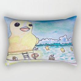 Duck on Toronto Harbour Rectangular Pillow