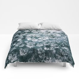 Winter Forest - Aerial Photography Comforters