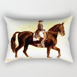Horses and People No.2 Rectangular Pillow