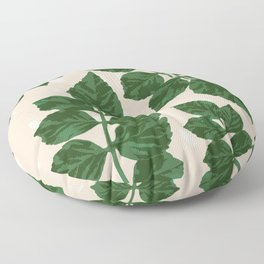 Sweet Leaf Motif on spotted peach Floor Pillow