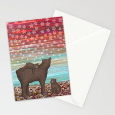 brown bears and stars Stationery Cards