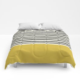 Mustard Yellow & Stripes Comforters