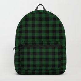 Original Forest Green and Black Rustic Cowboy Cabin Buffalo Check Backpack