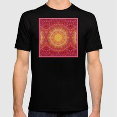 Love Will Find A Way -- Kaleidescope Mandala in the colors of Love MEDIUM Mens Fitted Tee Black