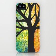 Stencil Tree Canvas iPhone (5, 5s) Slim Case