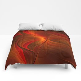 Warmth, Abstract Fractal Art Comforters