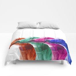 Greyhounds. Pop Art portrait. Comforters