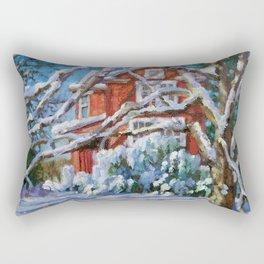 Cozy in the Snow Rectangular Pillow