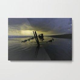 Haunted Shipwreck  Metal Print