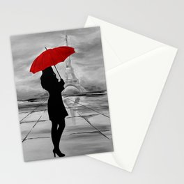 The Red Umbrella Stationery Cards