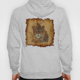 The Lion Papyrus - Big Cat Artwork Hoody