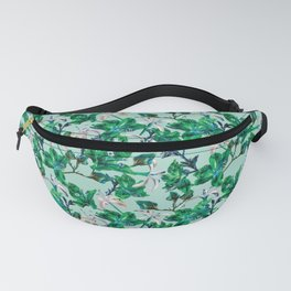 Tropical Bramble Blue Fanny Pack