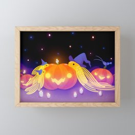Halloween pleco Framed Mini Art Print