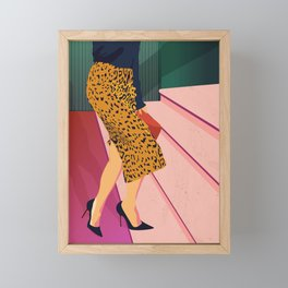 Just steppin' in, and you`re gonna hear me Roar - Fashion illustration Framed Mini Art Print