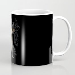 Green Knight with Knife Character Design Coffee Mug
