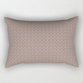 Cavern Clay SW 7701 V Shape Horizontal Lines on Slate Violet Gray SW9155 Rectangular Pillow