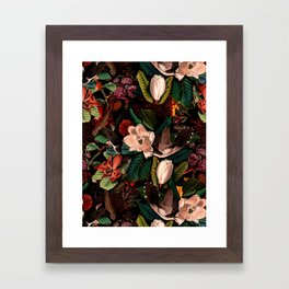 FLORAL AND BIRDS XIV Framed Art Print