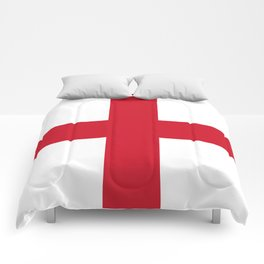 Flag of England (St. George's Cross) - Authentic version to scale and color Comforters