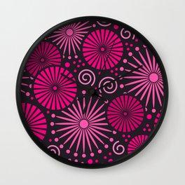 Pink retro abstract Wall Clock