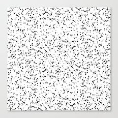 Speckles I: Double Black on White Canvas Print