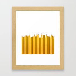 Pencil row / 3D render of very long pencils Framed Art Print