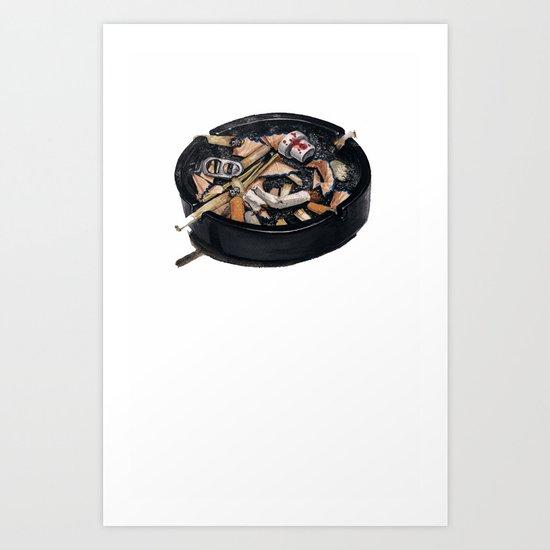 writer's ashtray Art Print