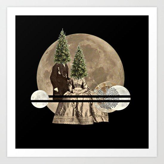 Mr & Mrs Christmas Art Print