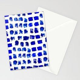 Blue brush Stationery Cards