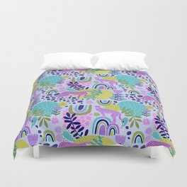 Cheetahs on Rainbows Duvet Cover