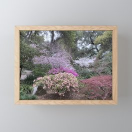 Spring - Garden in bloom Framed Mini Art Print