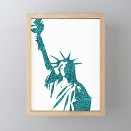 Statue of Glitter Framed Mini Art Print