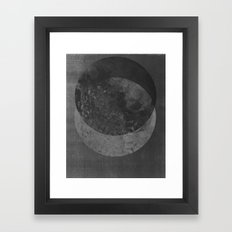 TWO MOON Framed Art Print