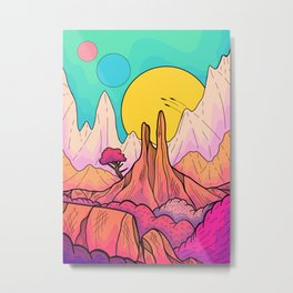 The 3 suns of Venus Metal Print