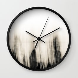 Trees By the Sea Abstract Wall Clock