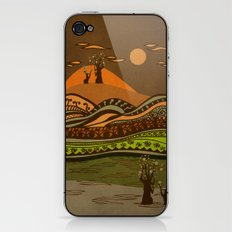 psychedelic mountains iPhone & iPod Skin
