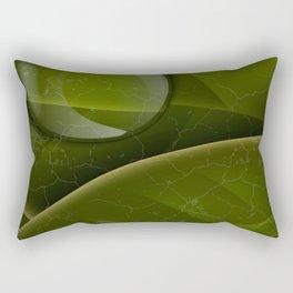 dew drops on green leaves Rectangular Pillow