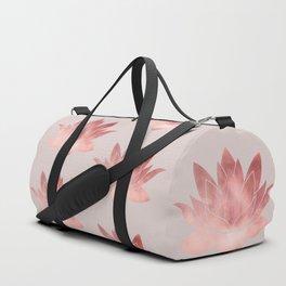 Pink Lotus Flower | Watercolor Texture Duffle Bag