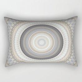 Blue Grey Vintage Mandala Rectangular Pillow