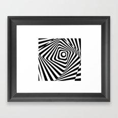 Zebra Op Framed Art Print