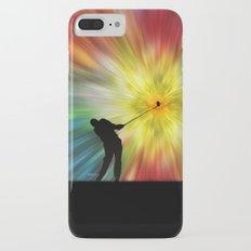 Tie Dye Silhouette Golfer Slim Case iPhone 7 Plus