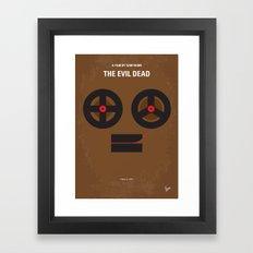 No380 My The Evil Dead minimal movie poster Framed Art Print