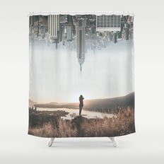 Between Earth & City Shower Curtain