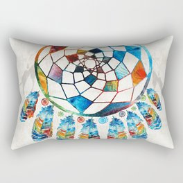 Native American Colorful Dream Catcher by Sharon Cummings Rectangular Pillow
